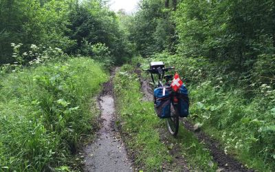 1 km Sumpfweg in Polen