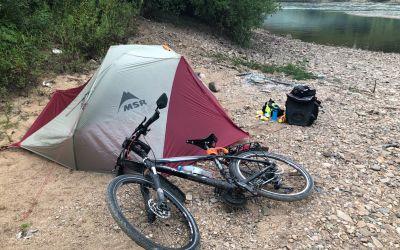 Zelten am Fluss