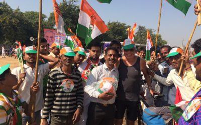 Feierliche Aufnahme in die Indische KongressPartei