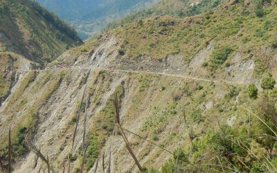 Schwierige Strassen in Nepal
