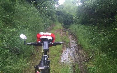 4km/400 Höhenmeter bei strömendem Regen in Bulgarien