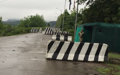 Versteinerte Grenze nach Abchasien