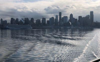 Seattle ab der Fähre