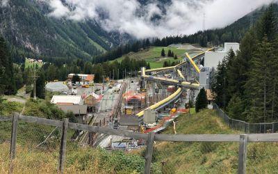Preda-Der neue Albulatunnel im Bau