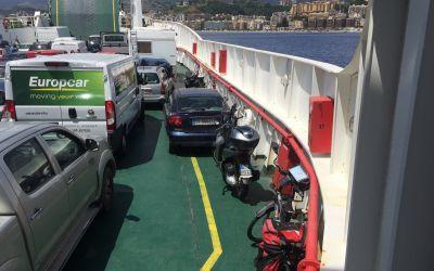 Auf der Fähre nach Messina