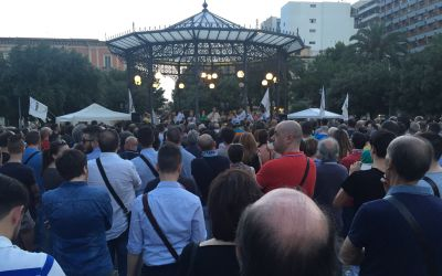 Politische Veranstaltung in Taranto