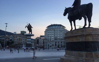 Eindrückliche Innenstadt von Skopije