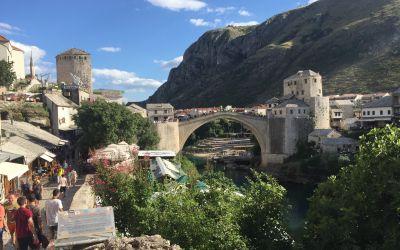 Mostar, die ehemalige Brücke der Versöhnung