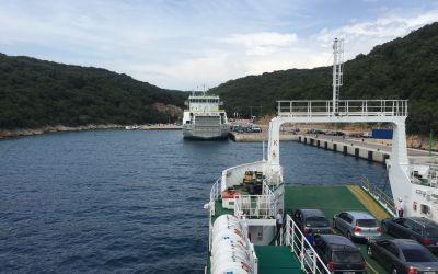 Fähreinfahrt auf die Insel Krk