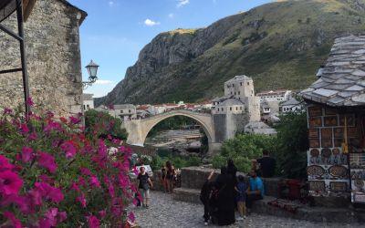 Die Brücke von Mostar (Bosnien)
