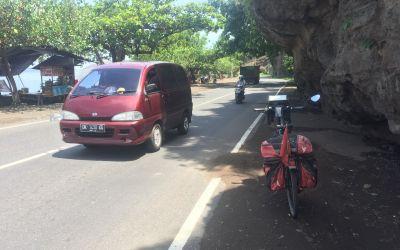 Die erste Km auf Bali