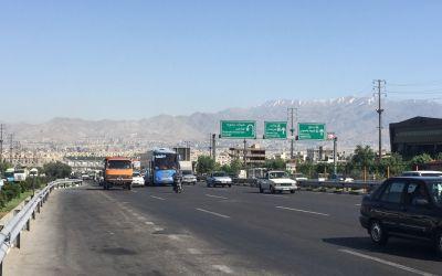 Ausfahrt aus Teheran